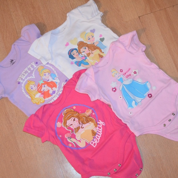 d6d69a8ed199 Disney Other - Baby Girl princess Onesies
